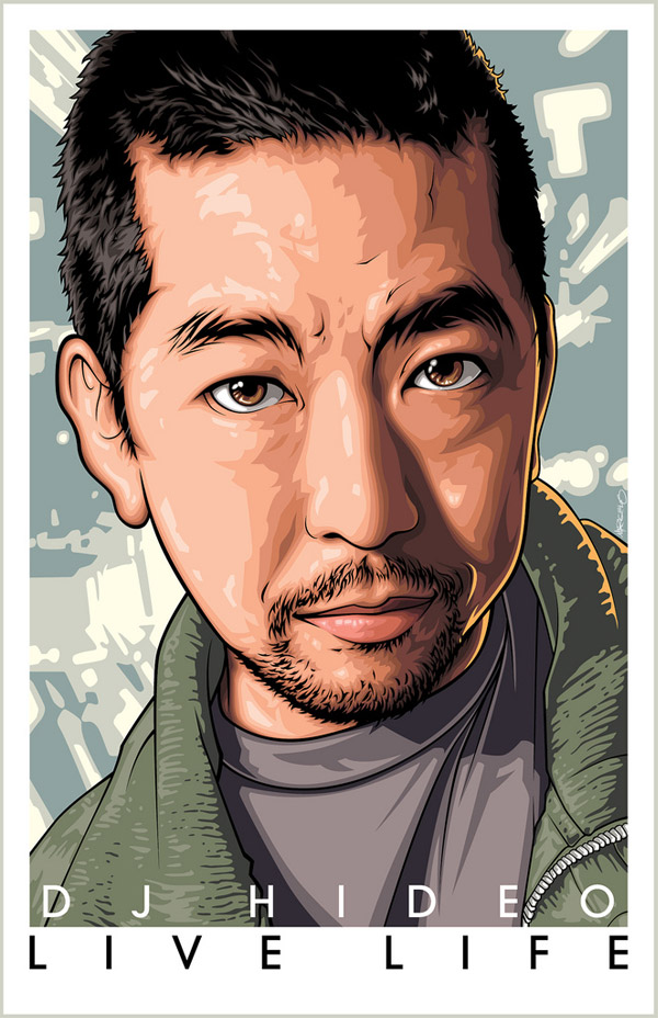 DJ Hideo Poster Art by Mel Marcelo