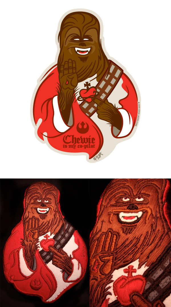 CHEWIE IS MY CO-PILOT by Lacko