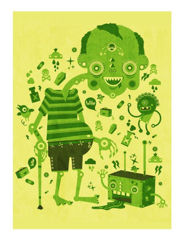 Hello Mr. Green!! by Yema-Yema