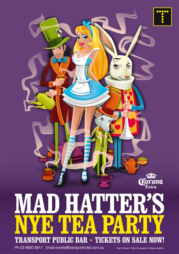 Mad Hatters NYE Tea Party by Travis Price