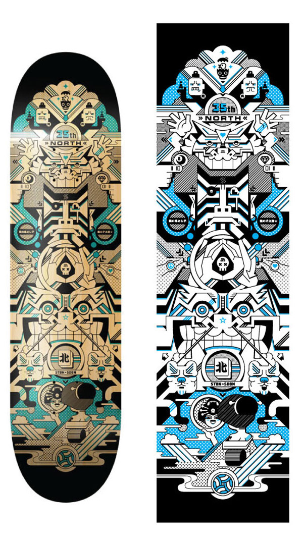 35th North Limited Edition Skate Deck by STBN SDBN