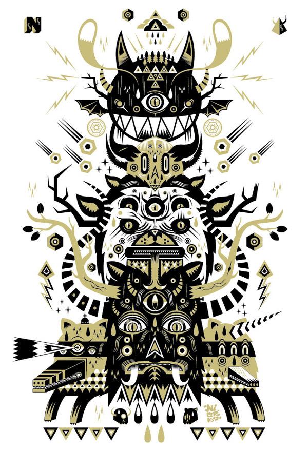 Totem - Silkscreen print by NIARK1