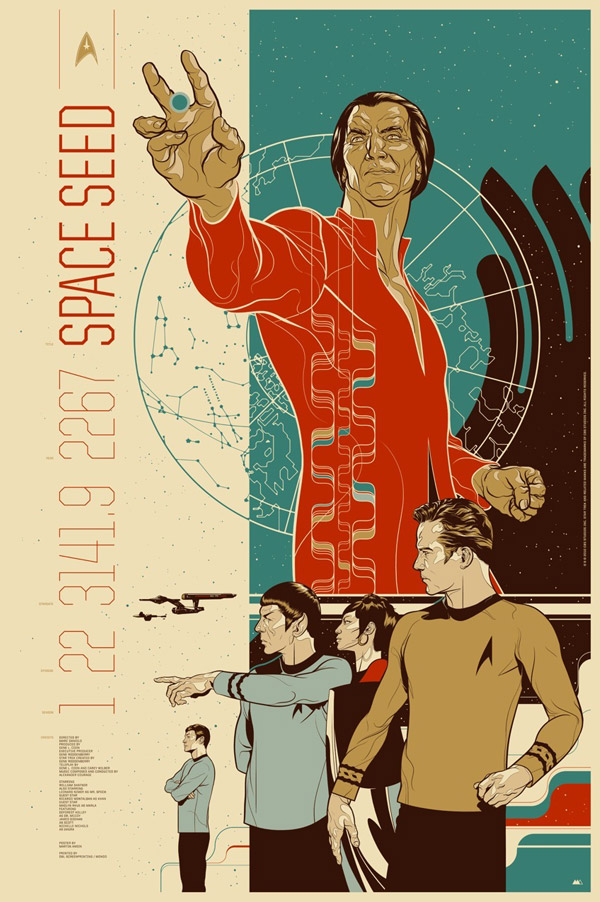 Space Seed Star Trek Poster by Martin Ansins