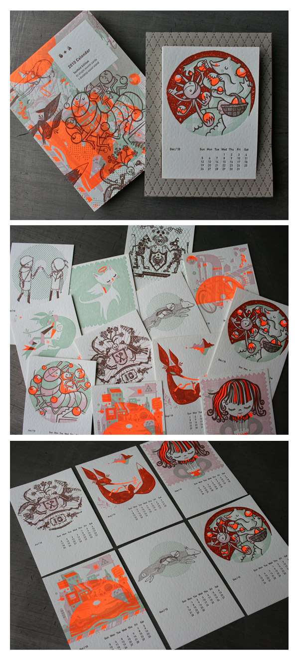 2010 Studio On Fire Letterpress Calendar by Studio On Fire
