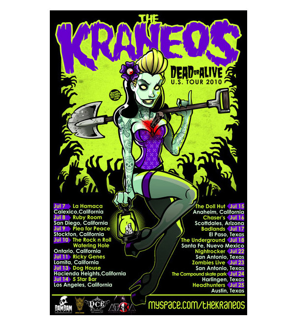 THE KRANEOS us tour poster by benestrada