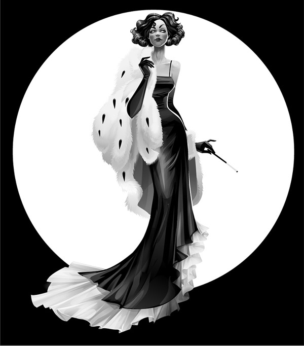 Elegance of Black and White by ~Zzanthia