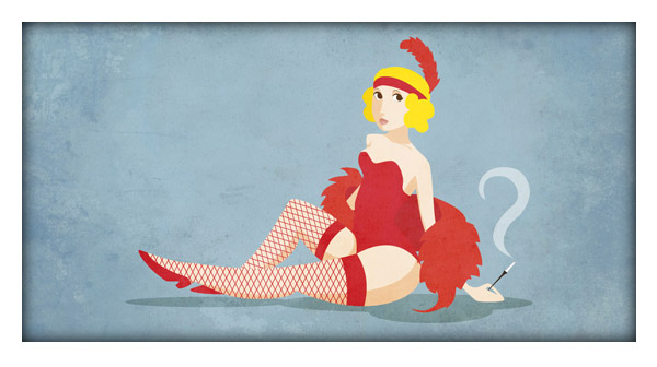 How to Draw a 20s Chick Using Adobe Illustrator