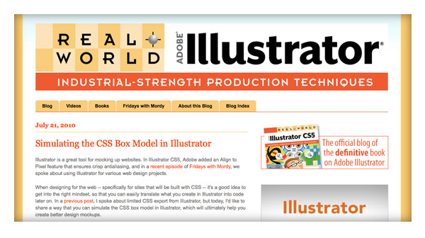 Simulating the CSS Box Model in Illustrator