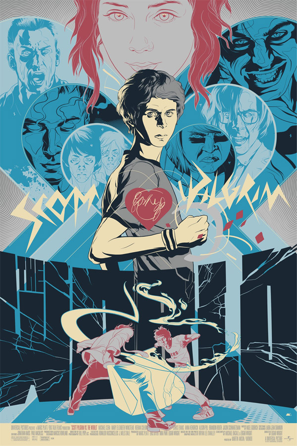Scott Pilgrim Vs. The World Poster by Martin Ansin