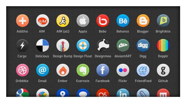 """Buddycons"" – Vector Social Media Icons"