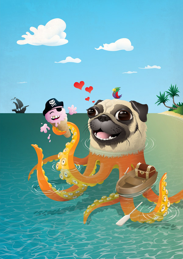 Octopug and the Ice Cream Pirate by Steven Silverwood