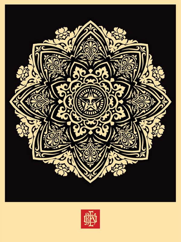 """""""Mandala Ornament 1″ Art Print by Shepard Fairey"""