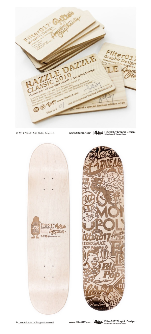"""RAZZLE DAZZLE CLASSIC 2010″ Skateboard by filter017"