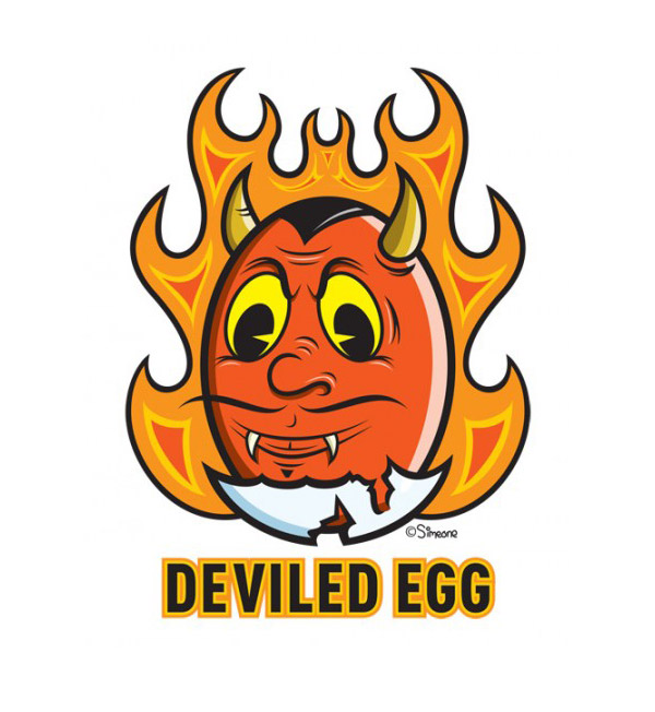 Deviled Egg Icon by Lou Simeone