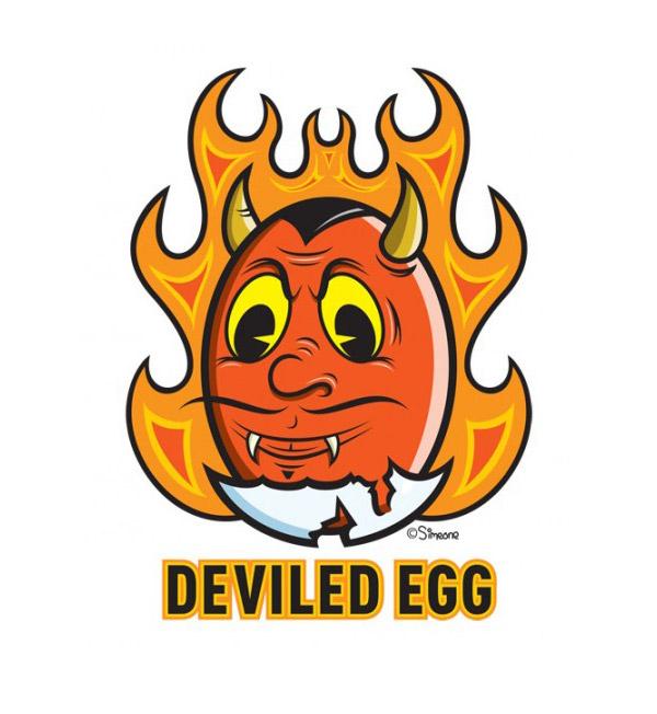 Deviled Egg Icon by Lou Simeone