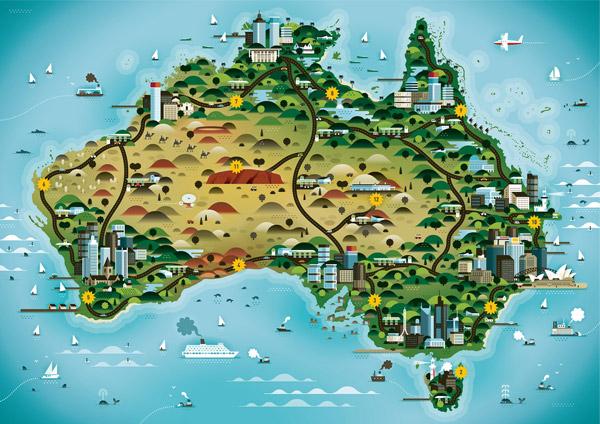 Australia by Khuan Cavemen Co.