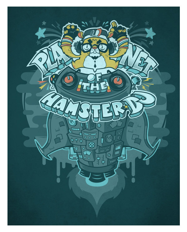 Planet of the Hamster DJ by Omnitarian