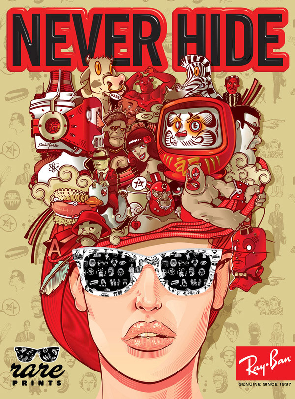 Ray-Ban Rare Print 2010 by David Sossella