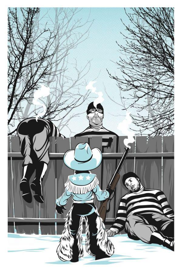 """Black Bart Gets His"" Art Print by Joshua Budich"