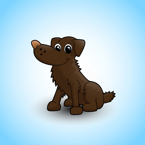 Cute Vector Dog Character in Illustrator Submitted by Alicia