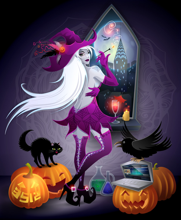 Modern witch Submitted by Kate Pru