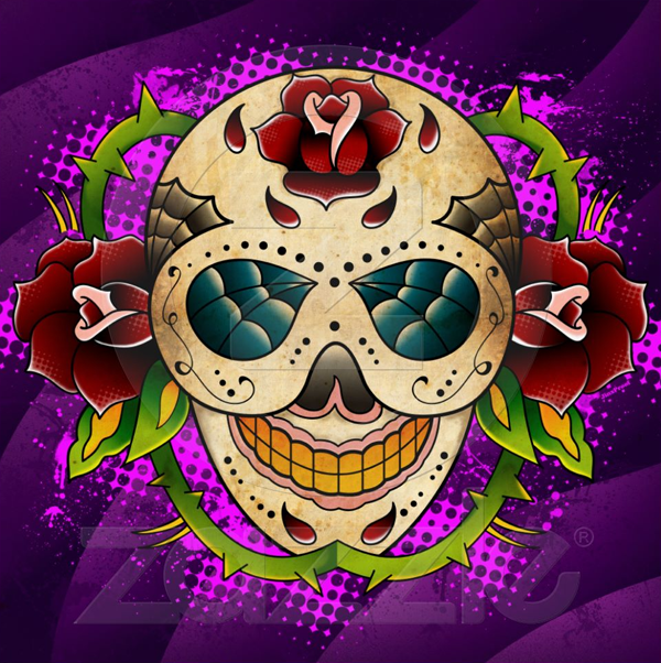 Day Of The Dead Sugar Skull Poster Submitted by Dan Dolmage