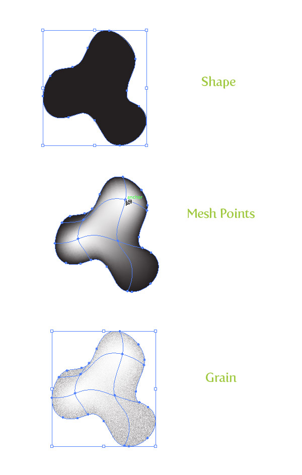 Gradient Mesh Grain