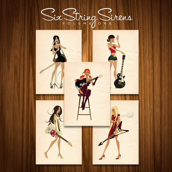 Six String Sirens Volume One by handdrawncreative