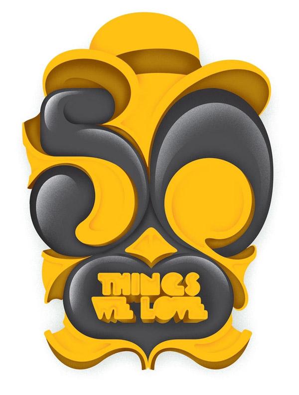 50 Things we Love by Alex Trochut