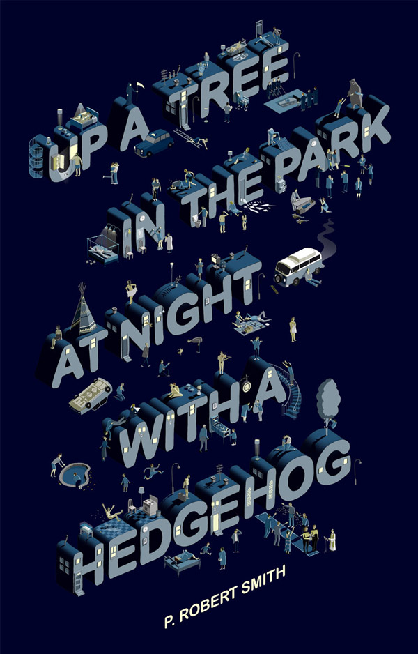 Up a tree in the park at night with a hedgehog by Adam Simpson