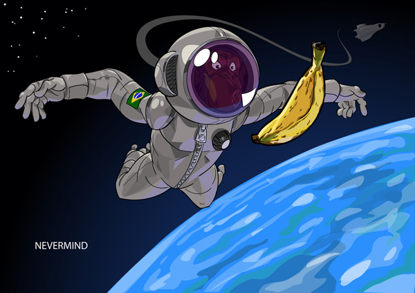 Astronaut Chimp by mendigo-amigo
