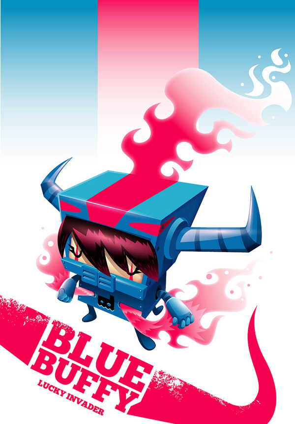 Lucky Invader: Blue Buffy by GuGGGar