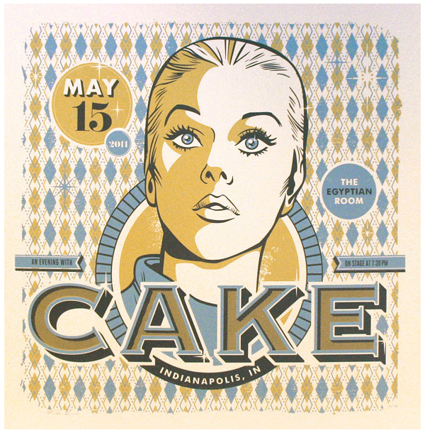 CAKE gig poster by RONLEWHORN