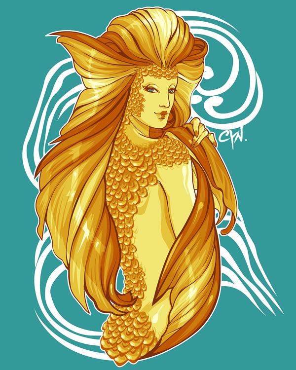Water Geishas: Koi by cynthiafranca