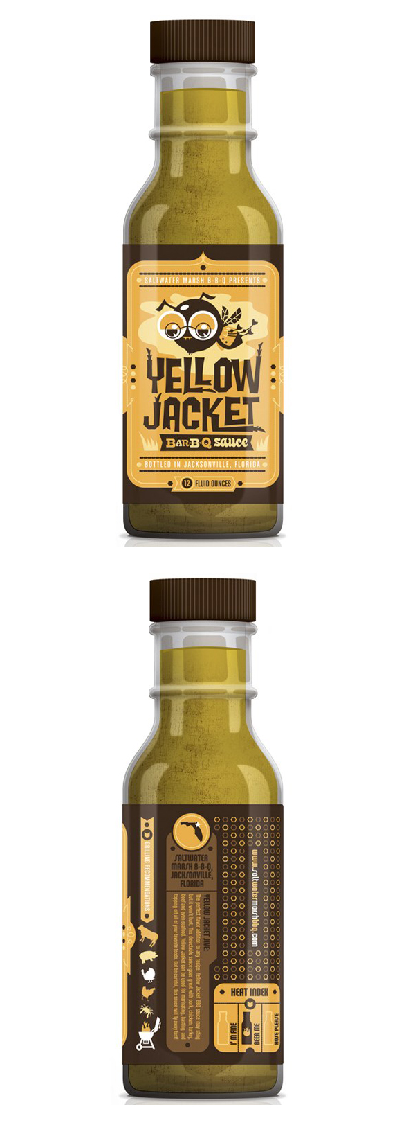 Yellow Jacket Bar-B-Q Sauce packaging by Kendrick Kidd