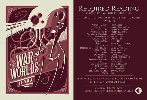 """Required Reading"" at Gallery 1988 (Curated by OMGPosters and Rob Jones)"