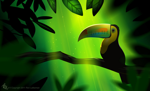 Toucan in the shade by Ron Letkeman