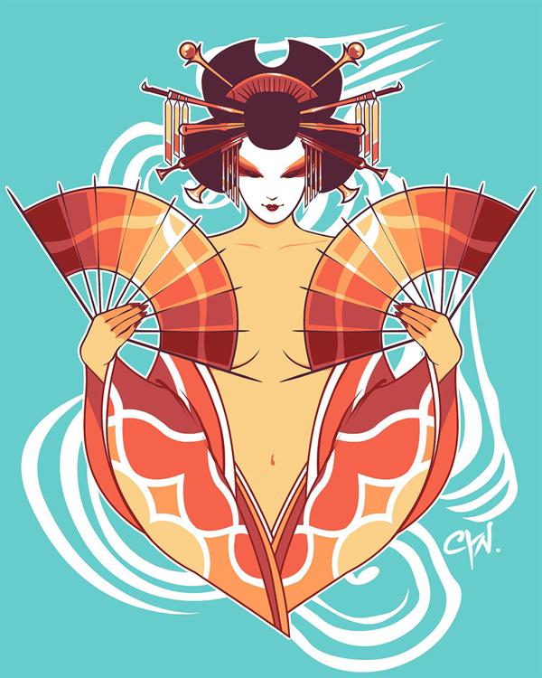 Water Geishas: Lionfish by cynthiafranca