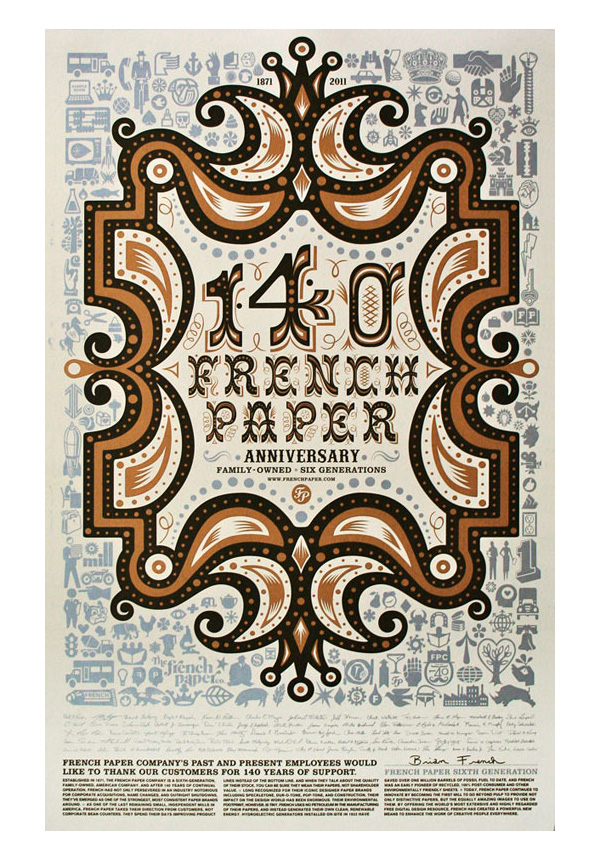 French Paper 140th Anniversary Posters by CSA