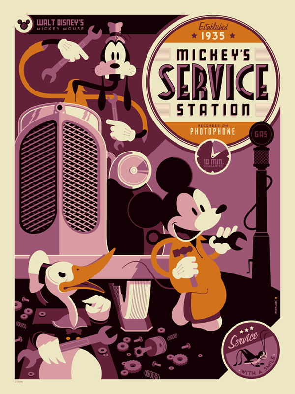 Mickey's Service Station by Tom Whalen