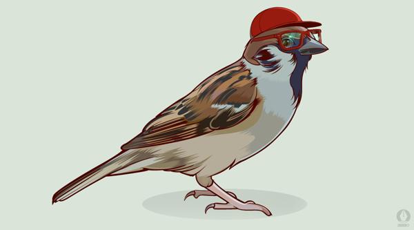 Nerd Bird by Aseo