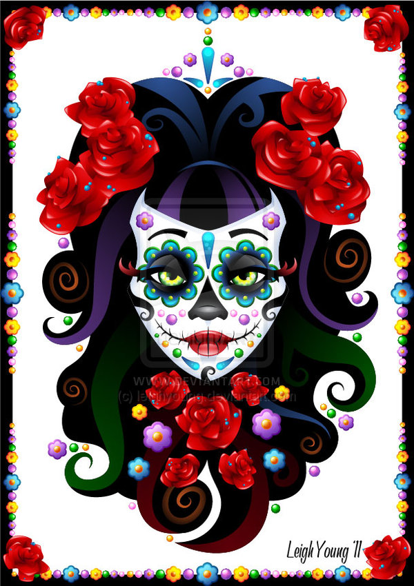 Day of the Dead Sugar Skull by leighyoung