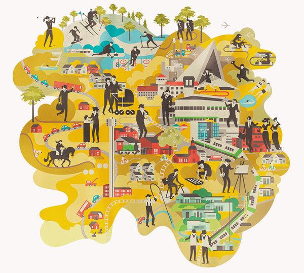 Identity Illustrations - City of Hyvinkää (Finland) by Vesa Sammalisto