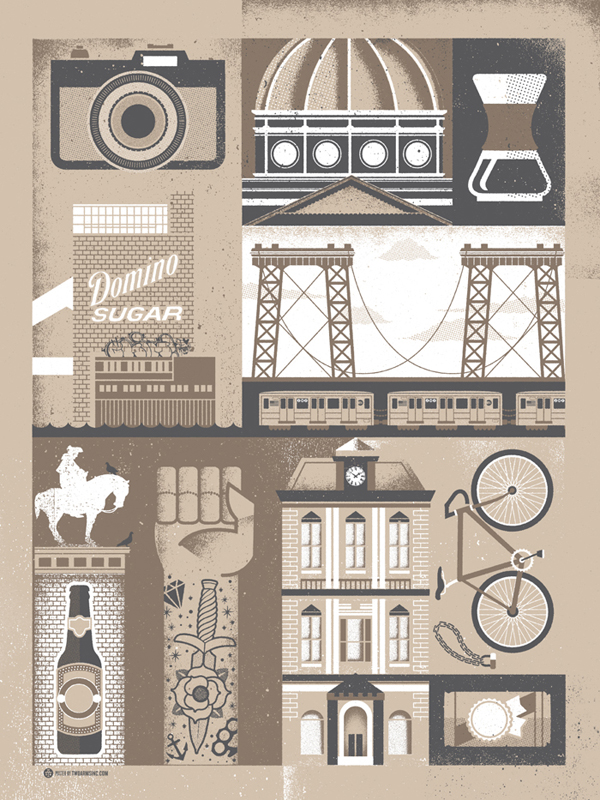 Williamsburg Brooklyn Series by Two Arms Inc
