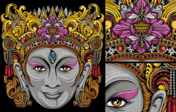 Balinese Mask Set by Pale Horse