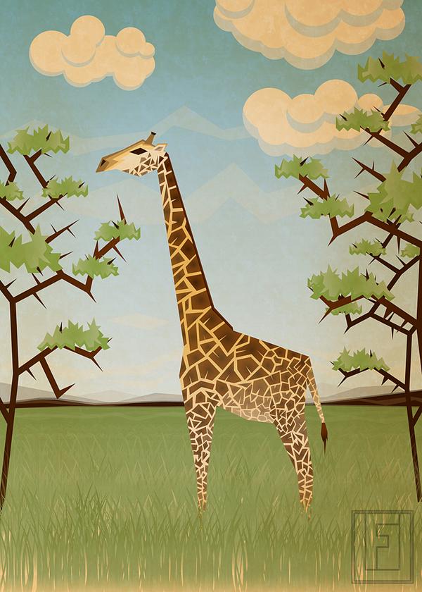 Giraffe by Fresco Umbiatore