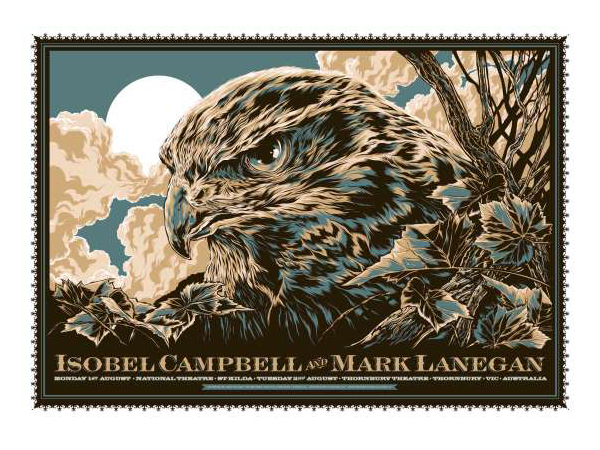 Isobel Campbell & Mark Lanegan Poster by Ken Taylor