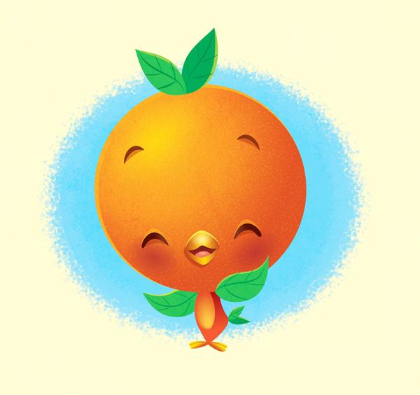 Kawaii Orange Bird by Jerrod Maruyama