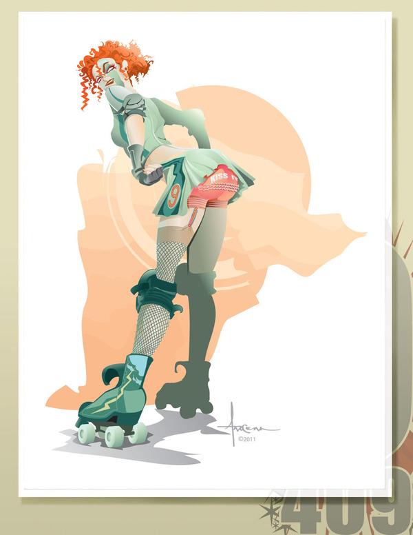 ROLLER DERBY FEMME FATALES by Orlando Arocena