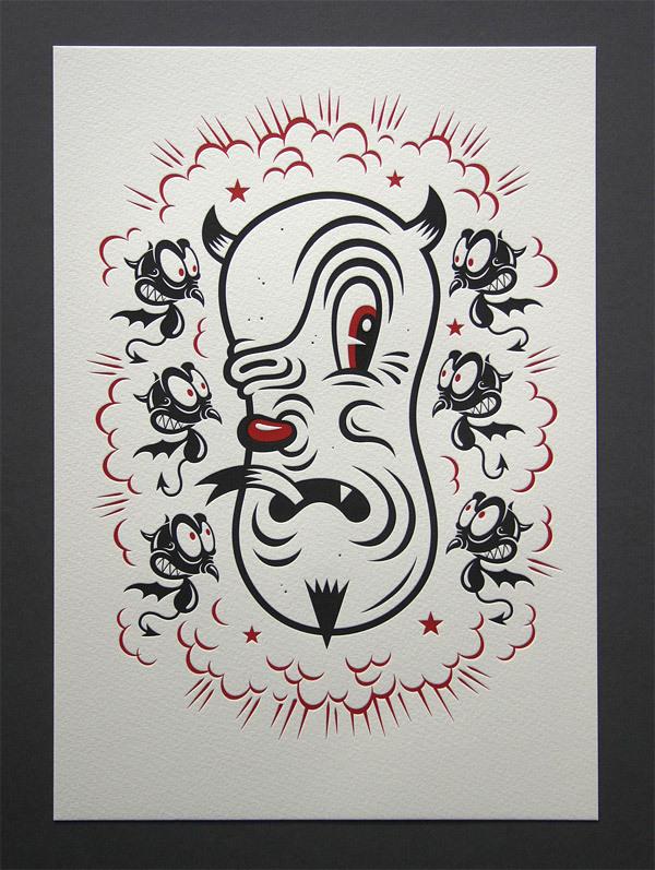 Candykiller 'Beast' Letterpress Print by blush°°